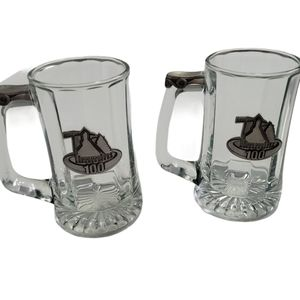 """Set of """"Timmins"""" Heavy Beer Mugs with Pewter"""